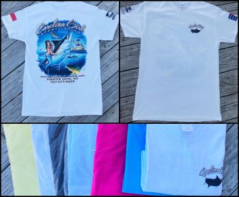 Carolina Girl Sportfishing Charters Outer Banks, Logo Tee (Short & Long)